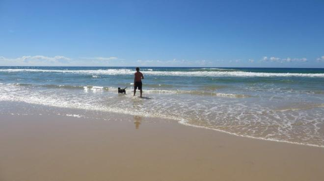 Bob enjoying the beach.