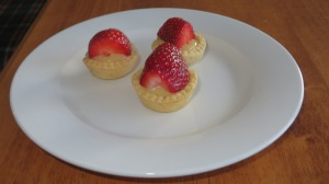 Mini Strawberry and White Chocolate Tarts