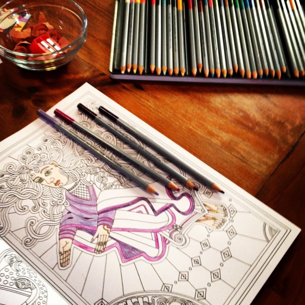 TIPS FOR MAKING THE MOST OF YOUR COLOURING BOOK