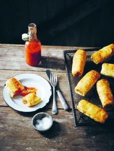 Chicken & Feta Sausage Rolls