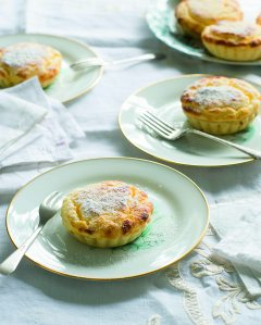 Lemon Curd Souffle Tartlets Recipes and Images from Apple Blossom Pie by Kate McGhie (Murdoch Books).