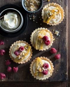 Banana Tartlets with Mascarpone Cream & Praline