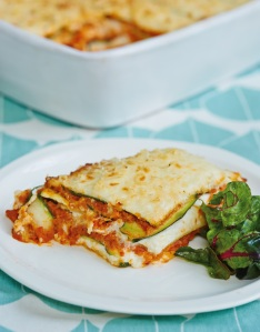 Courgette and Cannellini Bean Lasagne