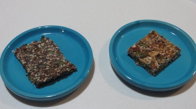 Seed and Parmesan Crackers and Seed & Nut Bars
