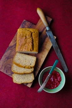 clever guts breakfast loaf + chia jam