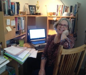Barb Hannay at desk