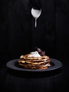 marly's toasted macadamia and banana pancakes