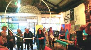 opening Anita in front of large dreamcatcher Dreams Come True