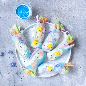 Unicorn Rice Paper Rolls
