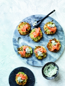 Brekky Fritters with Salmon